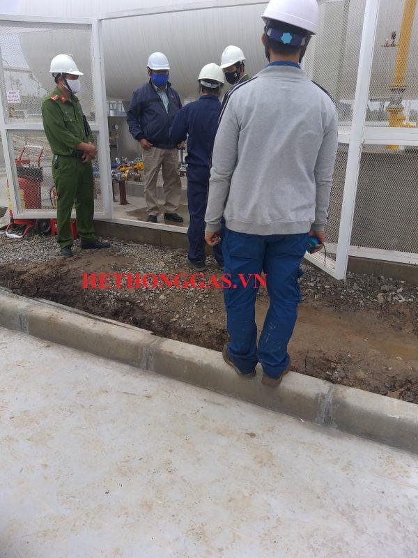 Cảnh sát PCCC Nghiệm thu Bồn chứa gas 10 tấn - Nhà máy Tsukuba - Hưng yên
