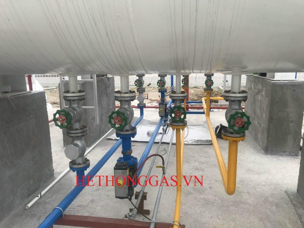 Thi công 02 bồn chứa gas 5 tấn nhà máy Polypia Vina Bắc Ninh