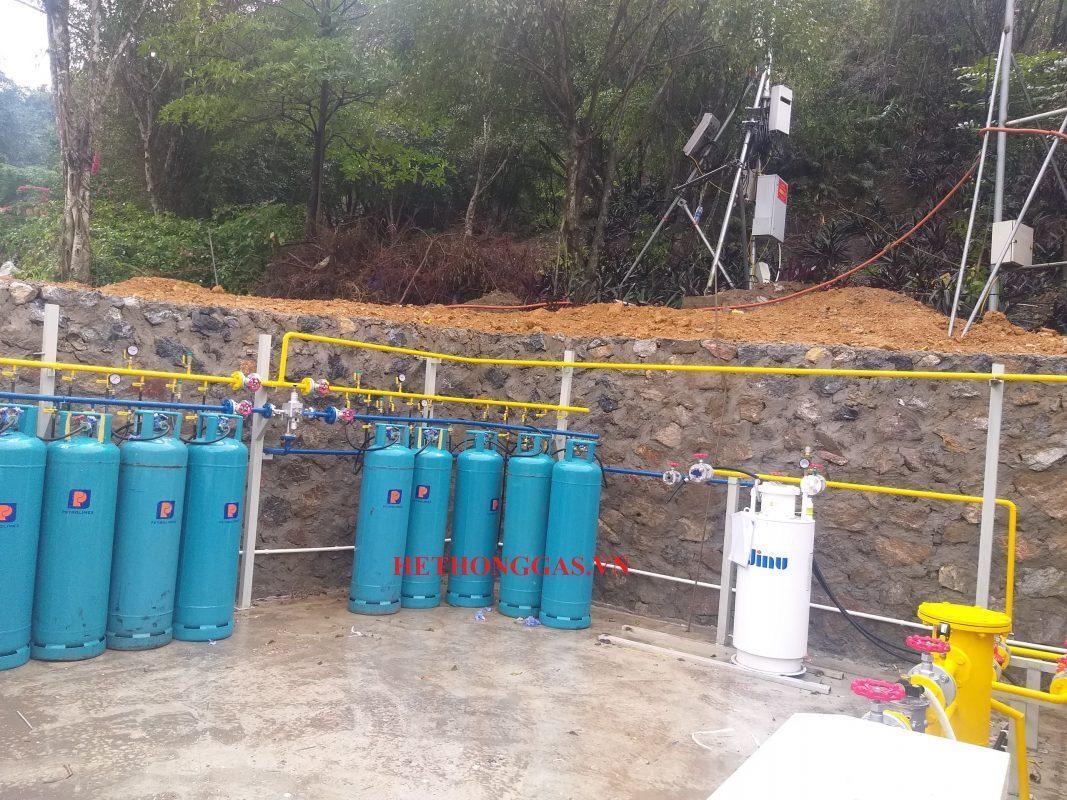 Dự án thi công 2 hệ thống cấp gas nấu ăn chùa Tam Trúc - Hà nam