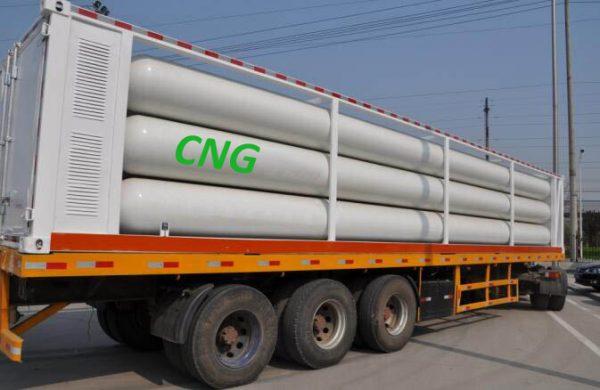 Khí CNG được vận tải bằng xe nhưng khối lượng vận tải lớn nhất được 4 tấn